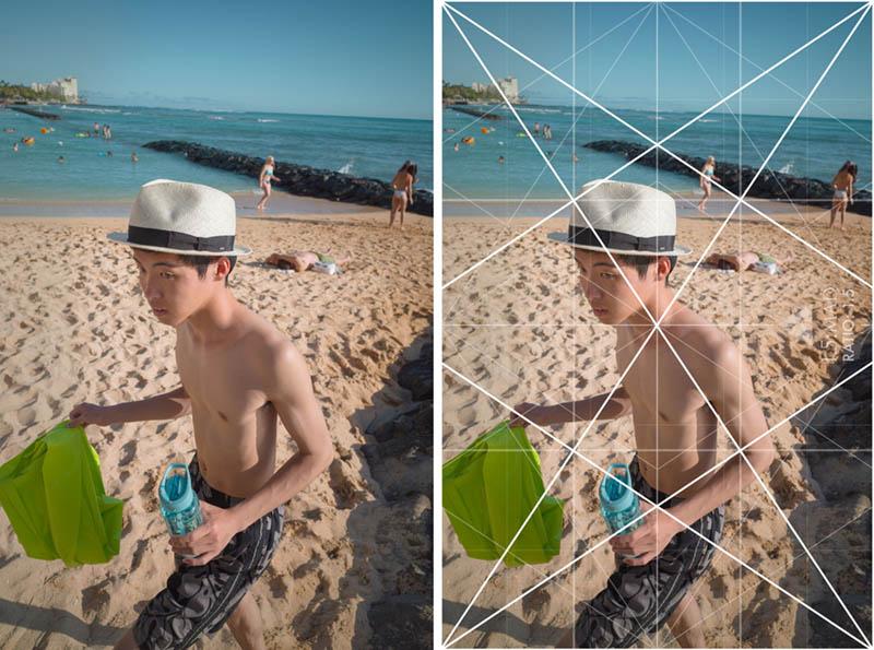 Street Photography and Ricoh GR III-3-Waikiki Hawaii-Kid-with-Hat-with-grid