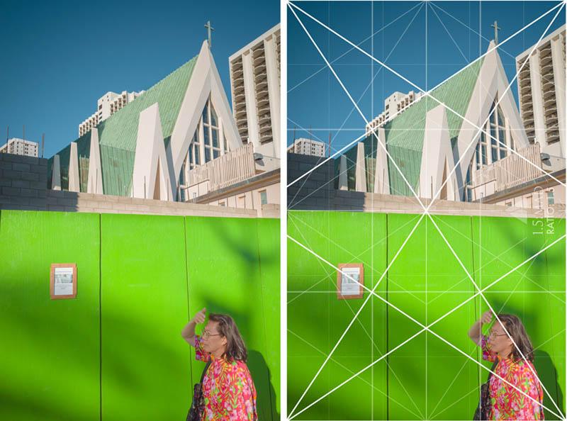 Street Photography and Ricoh GR III-3-Waikiki Hawaii-_T002151-green-wall-with-grid