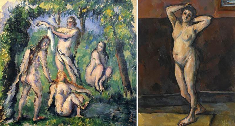 Nudity in Art-Michelangelo and More-Cezanne-comparison-2