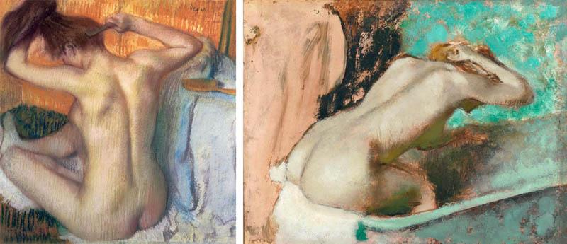 Nudity in Art-Michelangelo and More-Edgar Degas-comparison-1