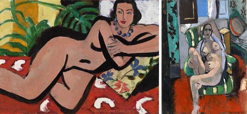 Nudity in Art-Michelangelo and More-Henri Matisse-comparison-1