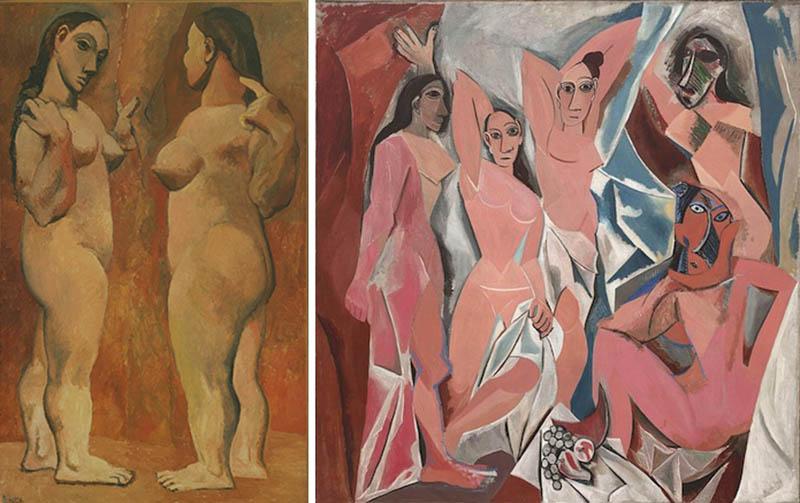 Nudity in Art-Michelangelo and More-Pablo Picasso-comparison-1