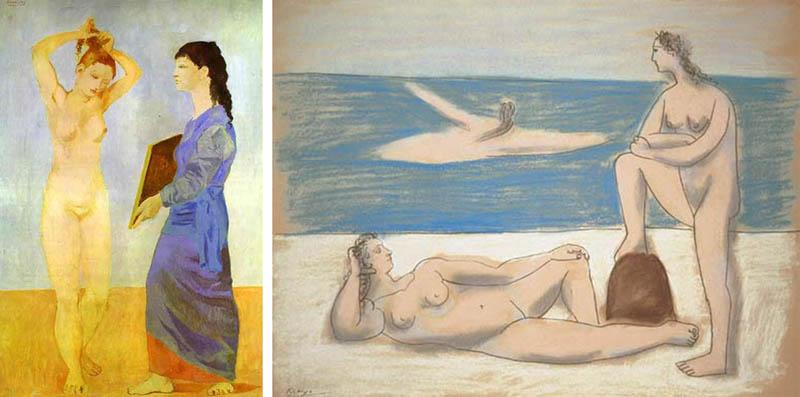 Nudity in Art-Michelangelo and More-Pablo Picasso-comparison-2