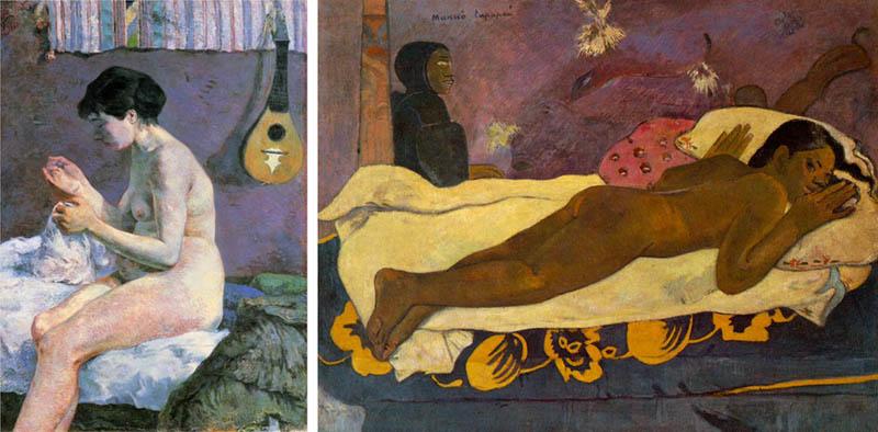 Nudity in Art-Michelangelo and More-Paul Gauguin-comparison-1
