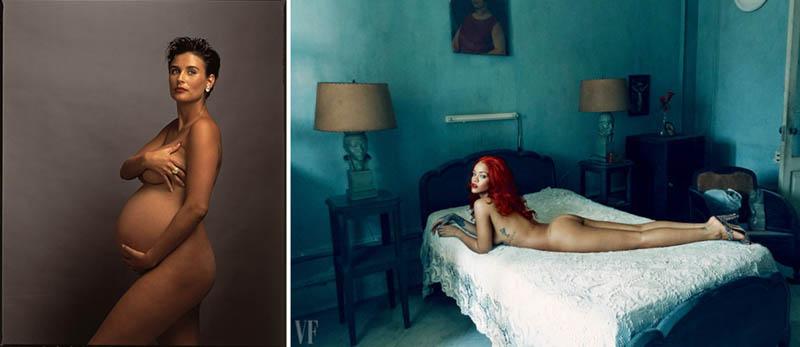 Nudity in Art-Michelangelo and More-annie leibovitz comparison-1