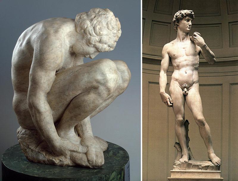 Nudity-in-Art-Michelangelo-and-statue-comparison-2
