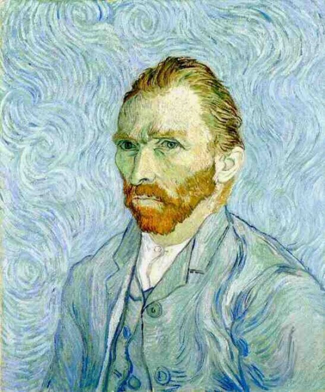 Mastering Composition with van gogh-Self portrait painting