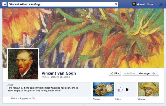 Van-Gogh-Facebook Fan-Page in 1887