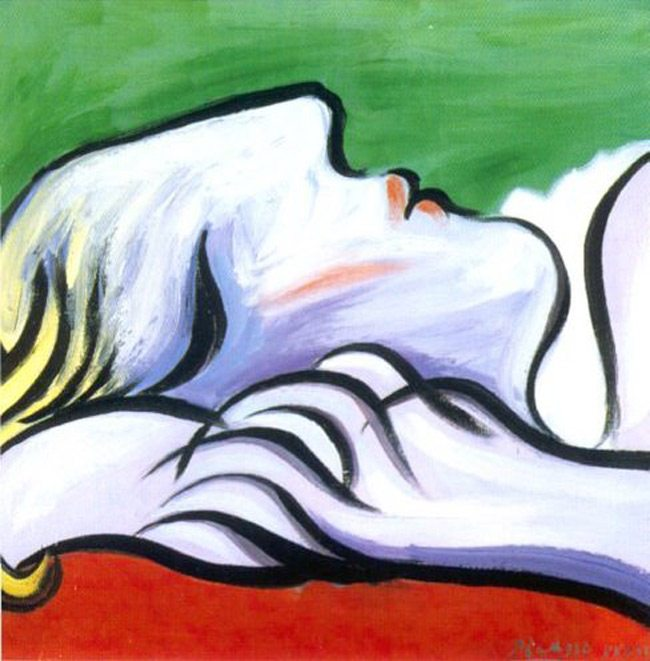 Picasso-Painting-asleep