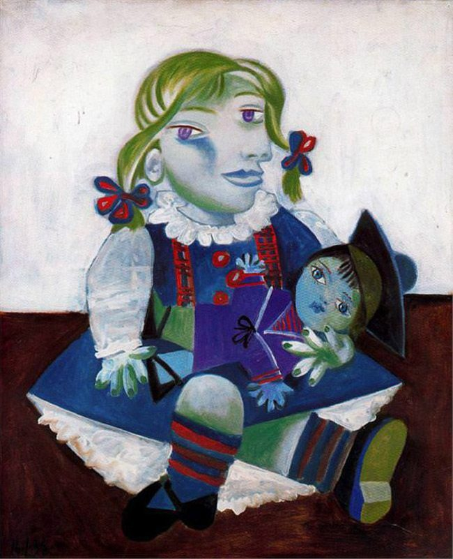 Picasso-Painting-maya-with-her-doll