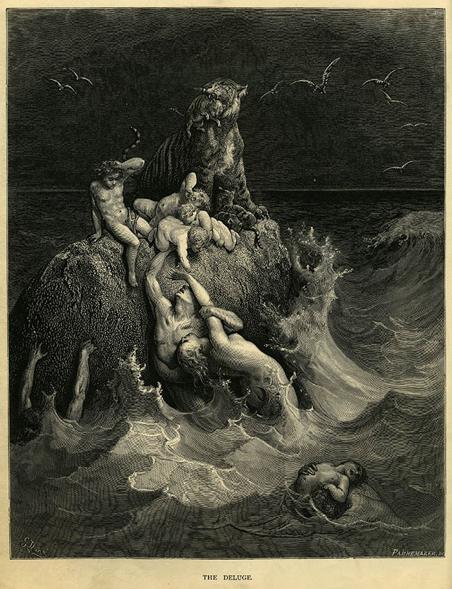3000px-Gustave_Doré_-_The_Holy_Bible_-_Plate_I,_The_Deluge