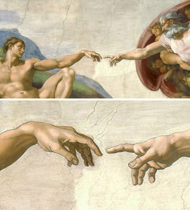 Michelangelo-Creation_of_Adam-Law-of-Proximity