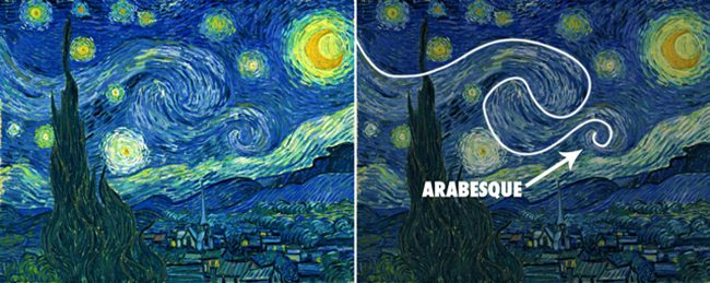 VanGogh-starry_night-with-arabesque