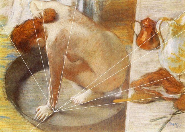 Law-of-continuity-gestalt-psychology-Edgar-Degas-Radiating-lines