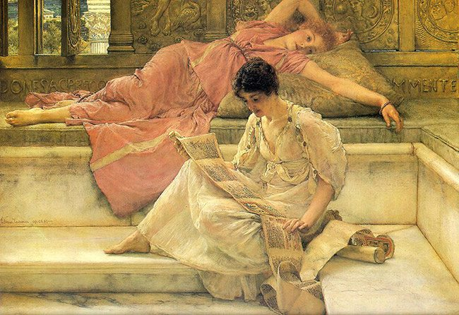 Law-of-continuity-gestalt-psychology-The_Favorite_Poet_Sir_Lawrence_Alma-Tadema_1888