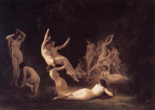 Law-of-continuity-gestalt-psychology-William-Adolphe_Bouguereau_The_Nymphaeum