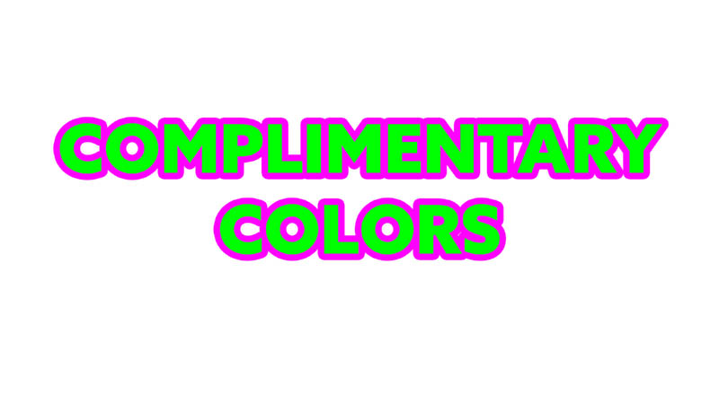 Complementary-Colors-Myth-Complementary-colors-words-magenta-outline