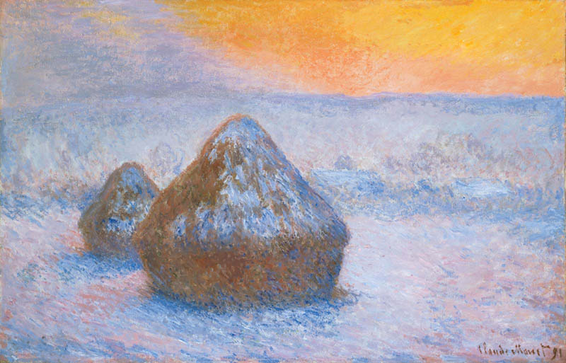 Complementary-Colors-Myth-Stacks-Wheat-oil-canvas-Claude-Monet-Art