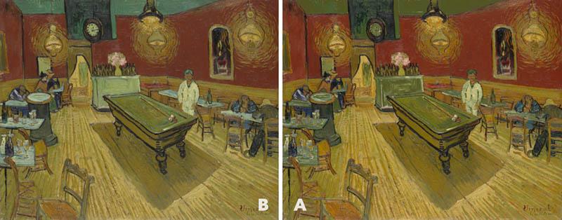 Van Gogh Pool Hall Comparison