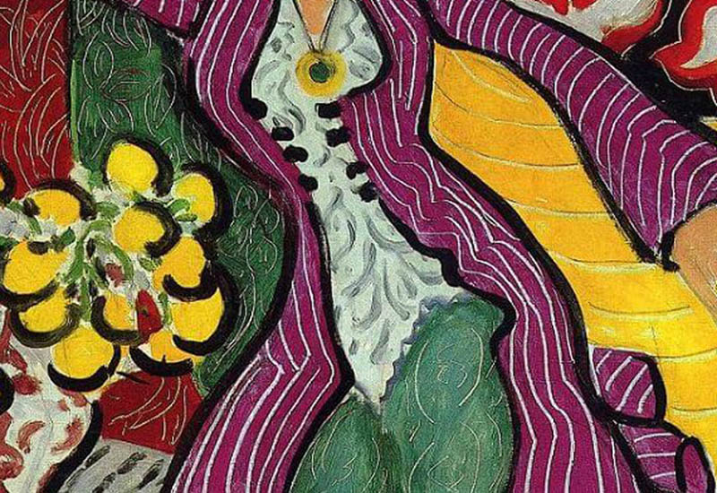 Complementary-Colors-Myth-woman-in-a-purple-coat-Matisse-adjusted-detail