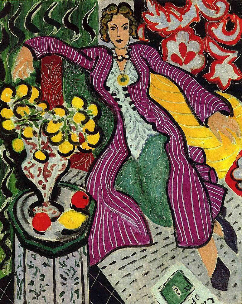 Complementary-Colors-Myth-woman-in-a-purple-coat-Matisse