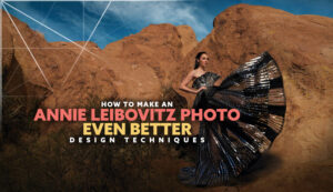 Annie-Leibovitz-Gal-Gadot-analyzed-intro-design techniques