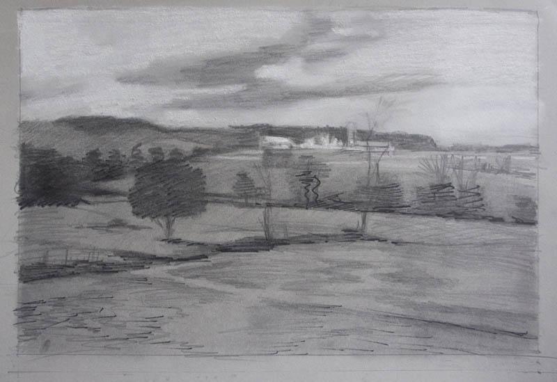 Dot Bunn landscape painting-color and design process-045