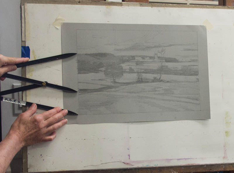 Dot Bunn landscape painting-color and design process-046