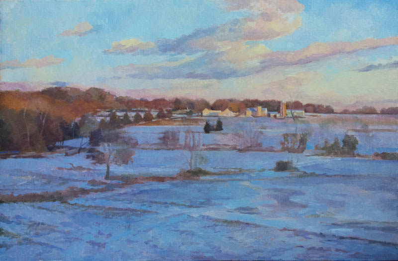Dot Bunn Landscape painting color and design process-layer
