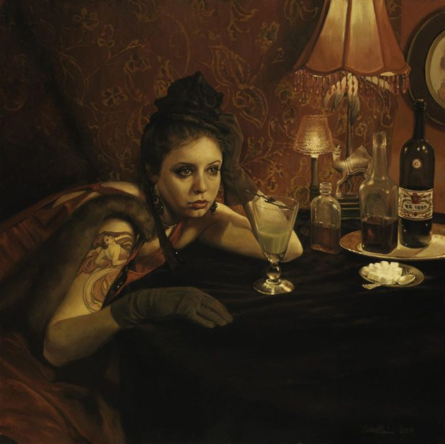 Mastering Composition with Absinthe Paintings00322absinthe-drinker-and-the-hostile-silence22-by-pamela-wilson-2011