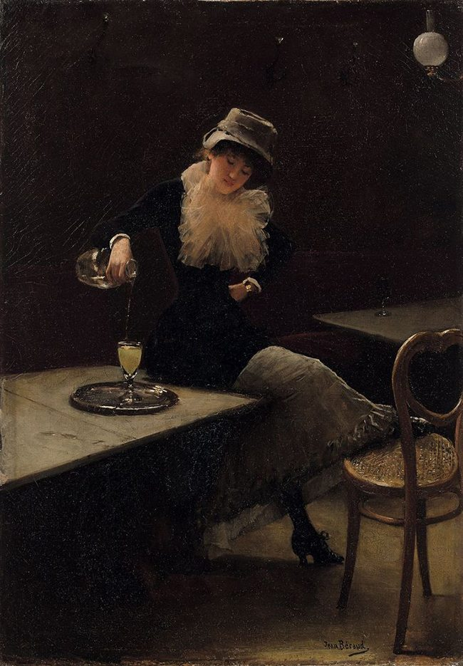 Mastering Composition with Absinthe Paintings008Absinthe drinker-jean beraud-woman-2