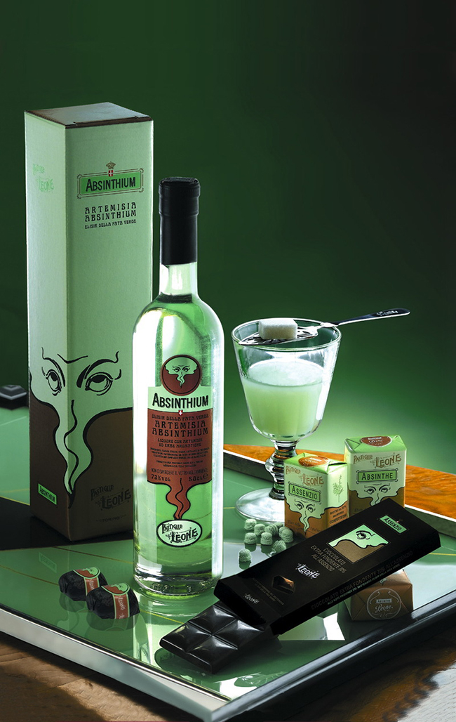 Mastering Composition with Absinthe Paintings013Artemisia-Absinthium-Absinthe