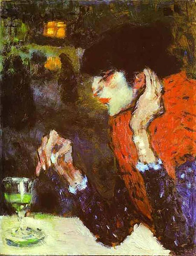 Mastering Composition with Absinthe Paintings029Picasso absinthe