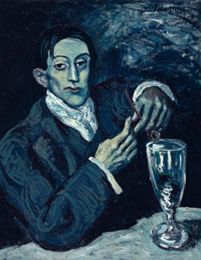 Mastering Composition with Absinthe Paintings031Picasso-absinthe