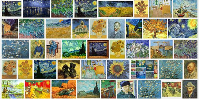 Dynamic Symmetry and Mastering Composition-Vincent van Gogh painting collage
