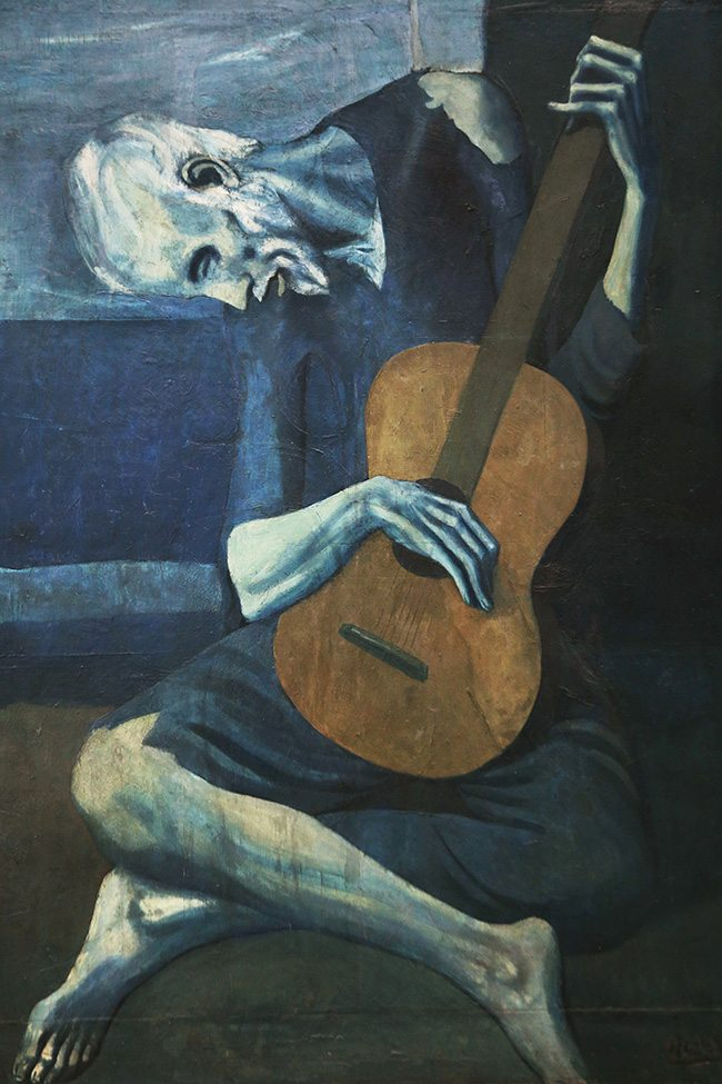 Mastering Composition - Henri Cartier-Bresson using Dynamic Symmetry - Proof-032-Picasso guitarist painting